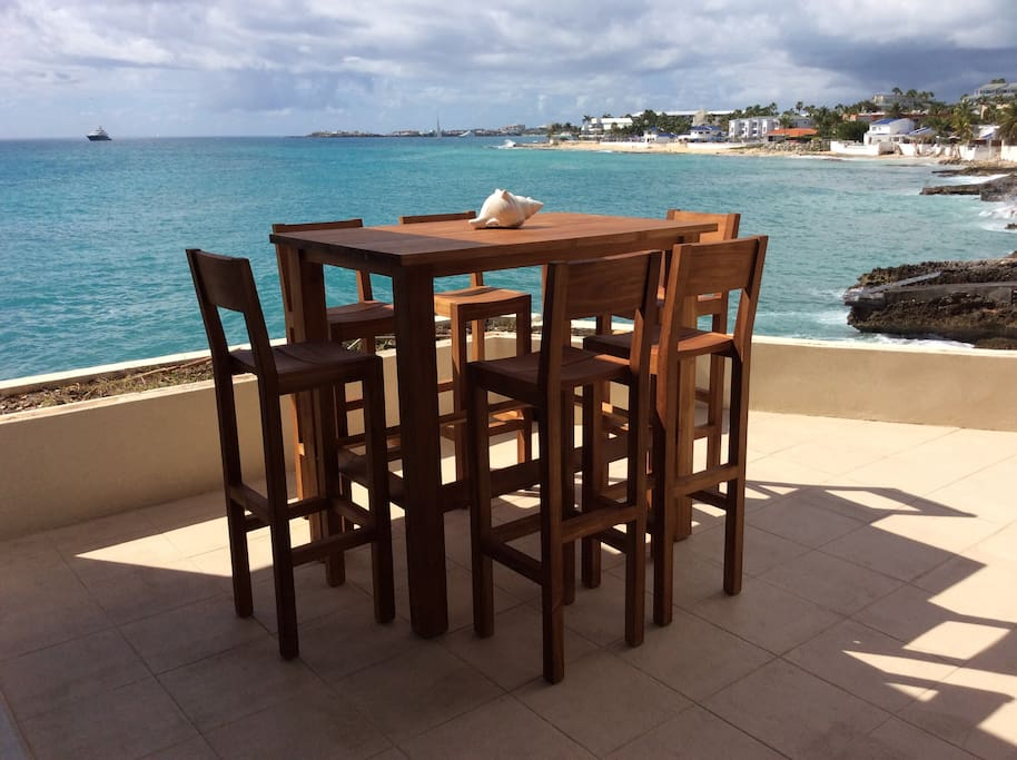 St Barts furnishing on covered patio