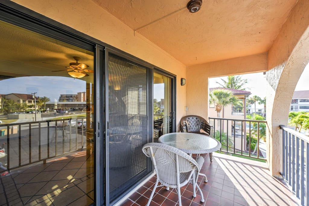 Early risers will look forward to sipping their morning coffee outside on the private balcony.