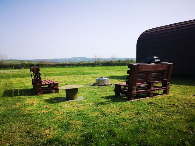 Celaeron Glamping - exclusive use of all 4 pods!