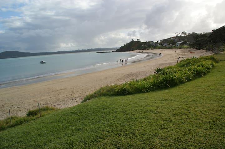 Spectacular beach front, Whangaumu Bay.