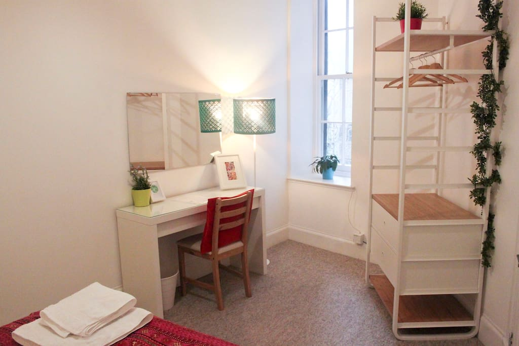 Dressing table and desk space in your private bedroom