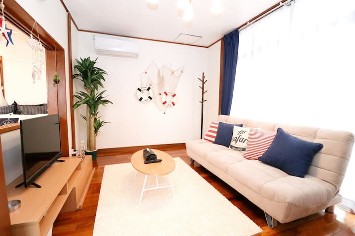 Welcome to our cozy house with 2 bed rooms in Naha