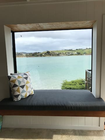 Best seat in the house overlooking the Taieri River and to the Ocean