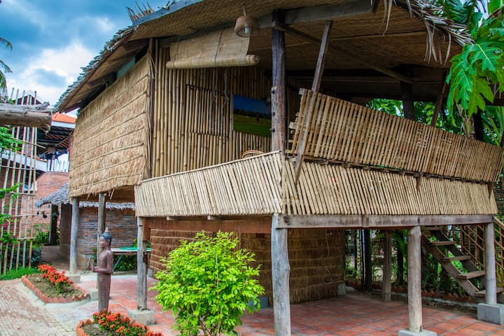 Traditional Bamboo House in a luxury resort