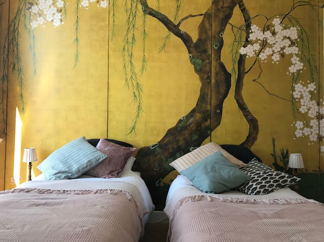 B&B Valkenbos - Sakura room (2 single beds)