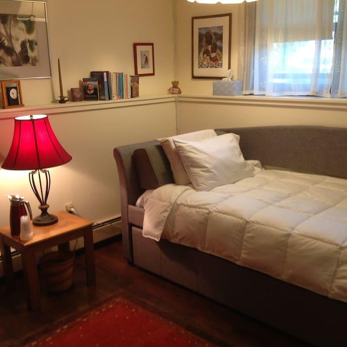 Lovely warm bedroom