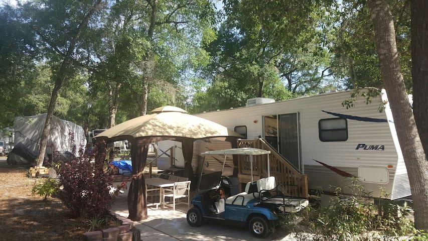 Camping made easy!  RV & Golf Cart.