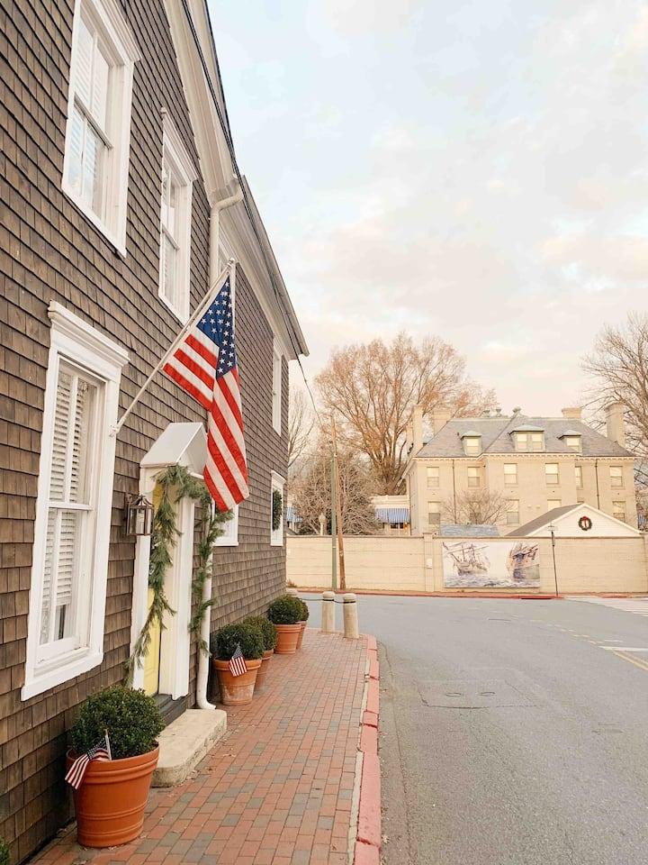 CIRCA 1885-Beacon of Annapolis History-USNA GATE 1