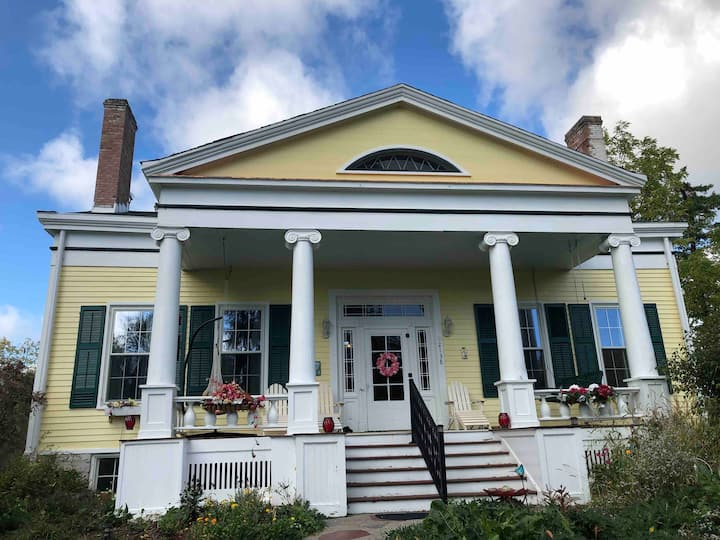 Gorgeous 1838 Greek Revival  Finger Lakes Home