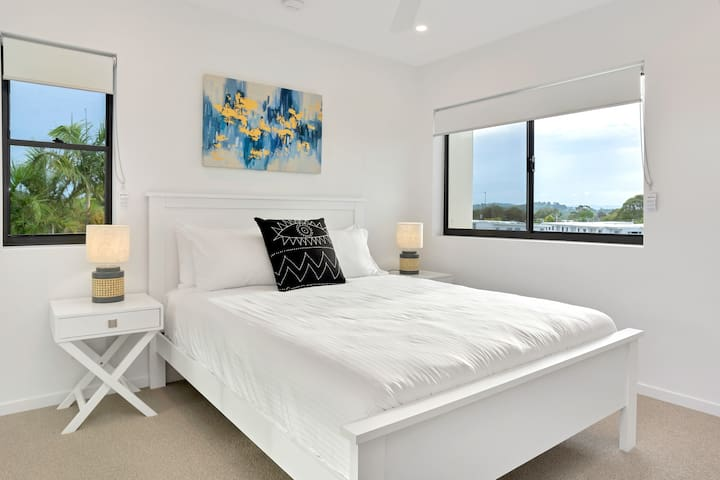 Master bedroom with water views