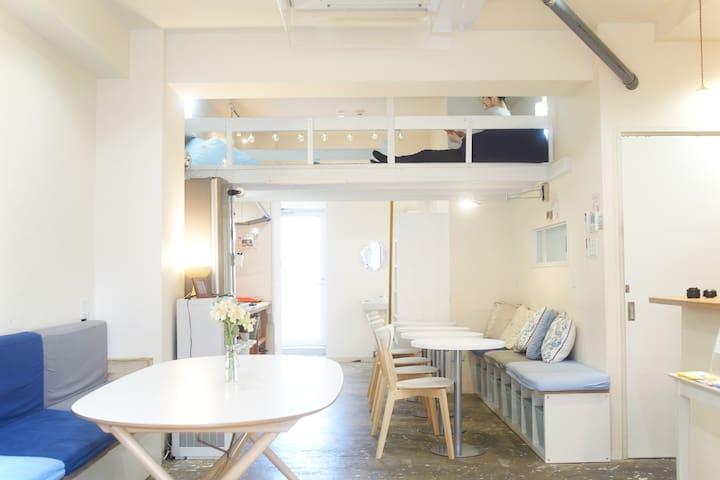 Casa Blanca Guesthouse 男女混合宿舍房(適合2-4人) *包括清潔