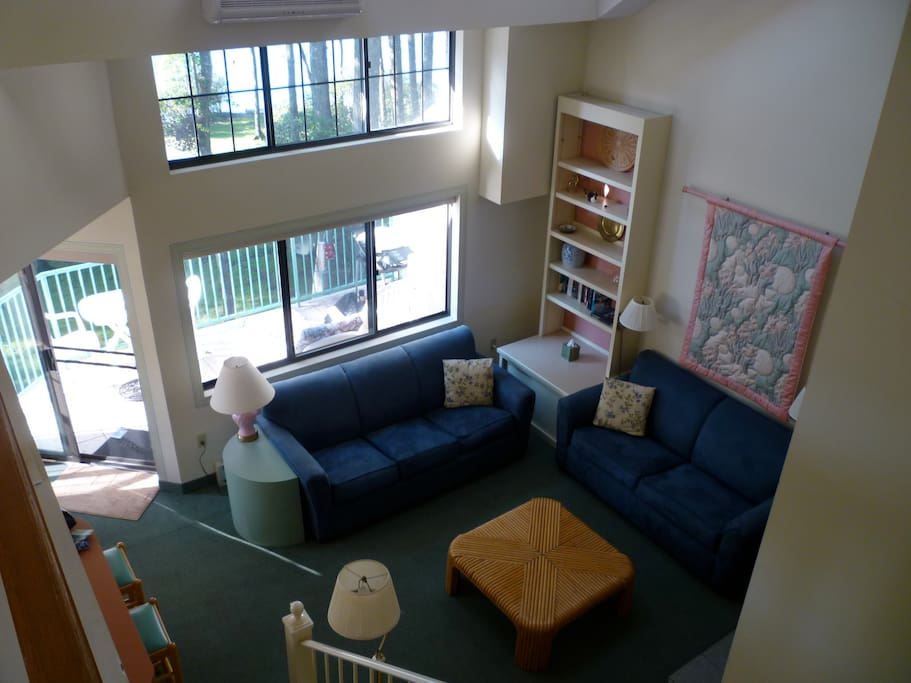 Here's a view of your living room from the loft