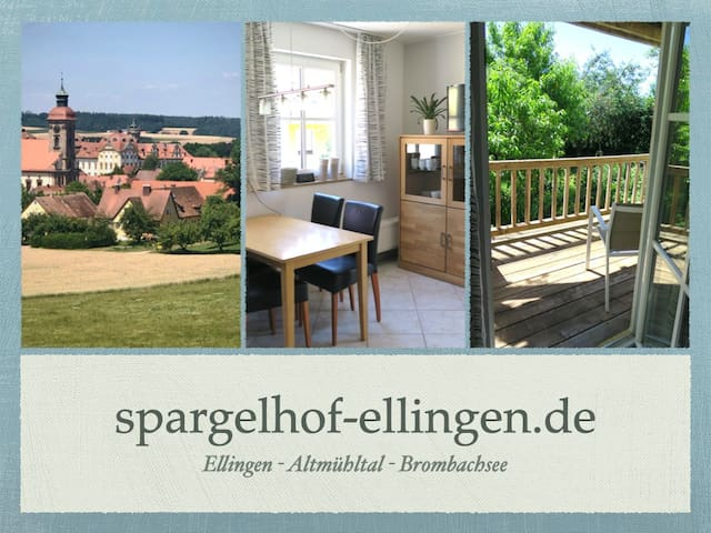 FeWo2 Spargelhof Ellingen, Brombachsee, Altmühltal