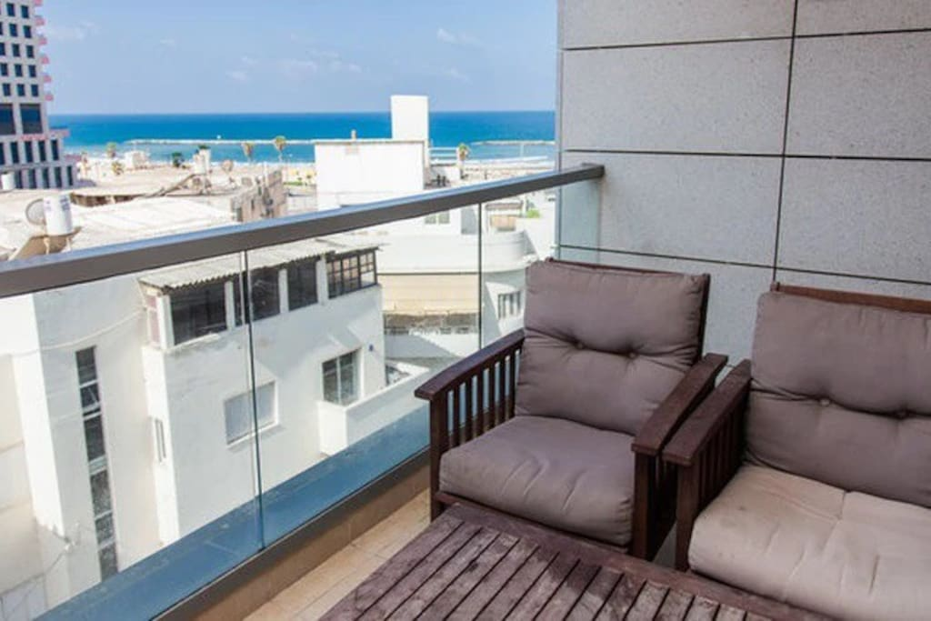Your private balcony with side sea views