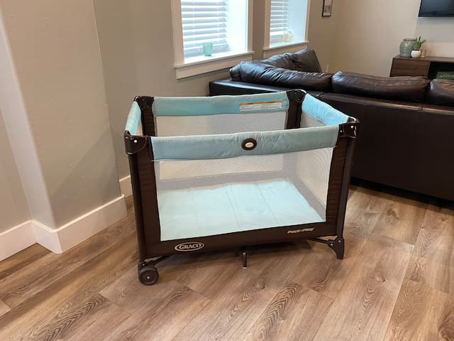 Crib/pack and play  Stored in bedroom closet