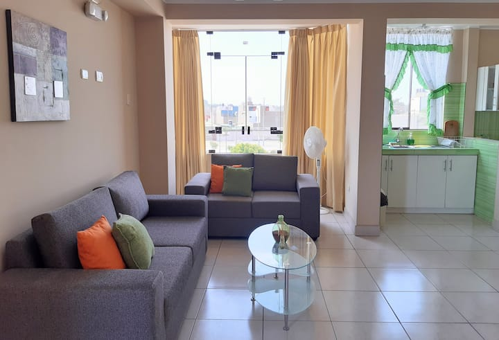 Cozy & Quiet Apartamento close to Paracas