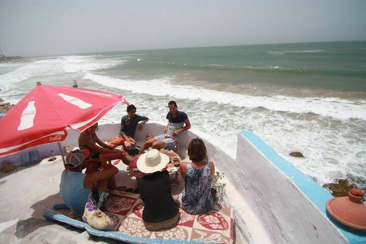 "Imsouane Beach House ""Chez Hafid"" - Chambre plage"