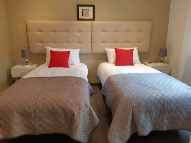 Bedroom 4 Beds can be joined to make a double bed