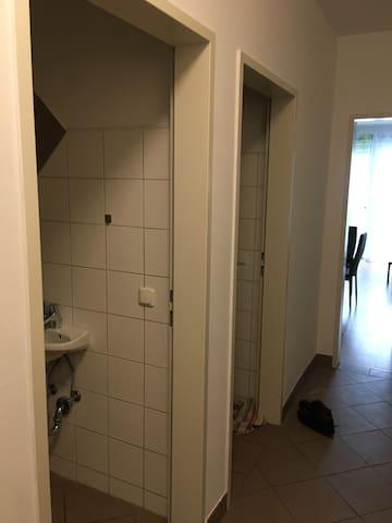 Vorraum wc und Abstellraum