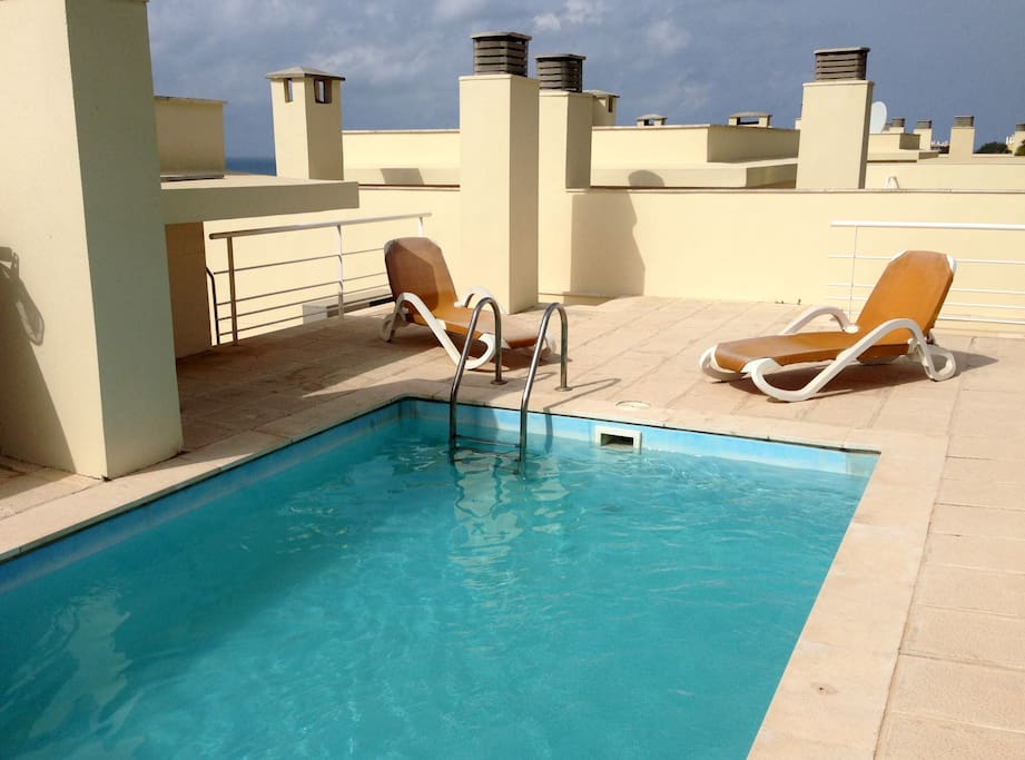 Private pool on the top terrace