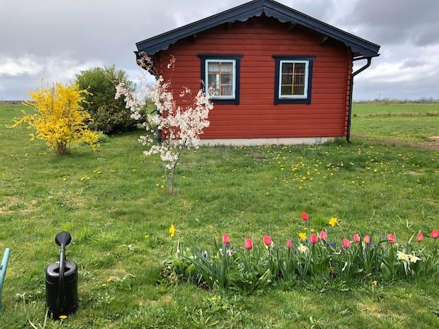 Stuga i idyllisk Ölandsby med fin utsikt