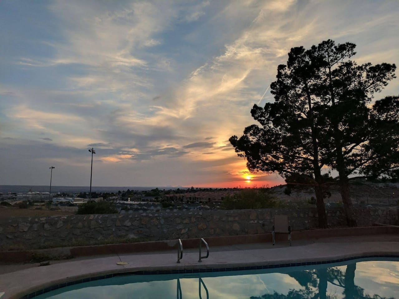 Sunset view from the patio