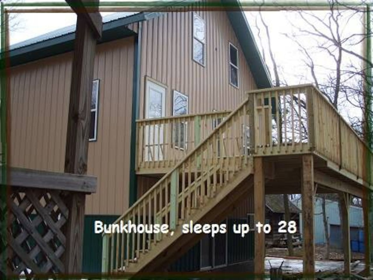 Outside the Bunkhouse over looking Ravine