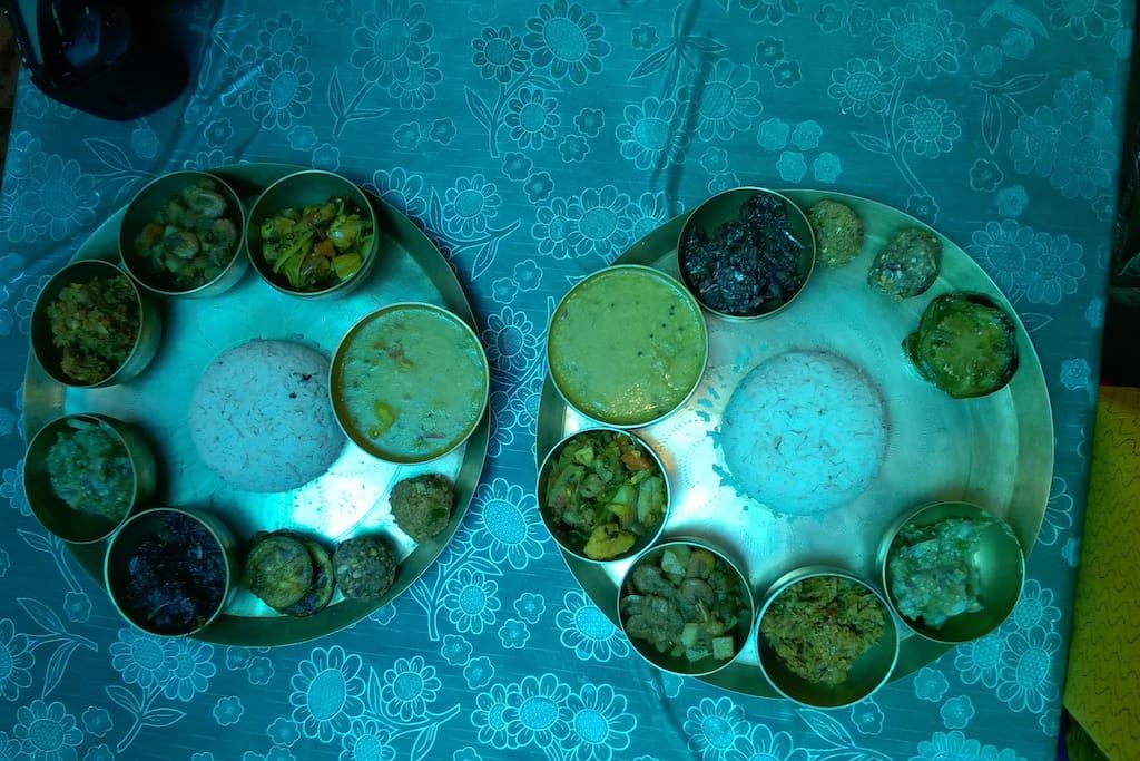 Traditional Odiya Meal served