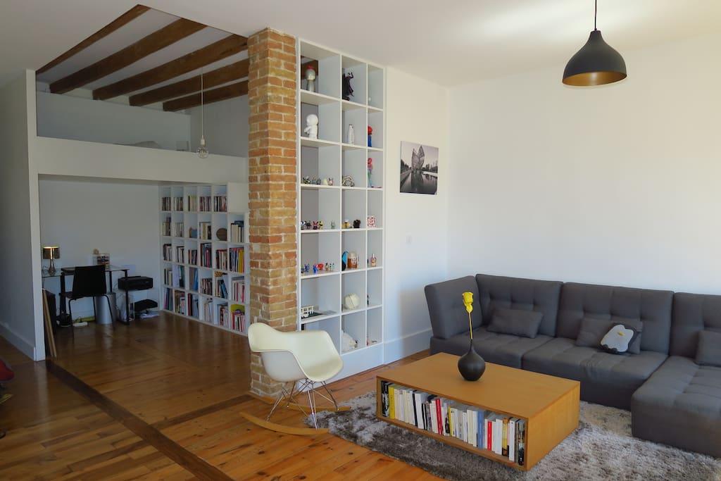 Espace bureau + mezzanine