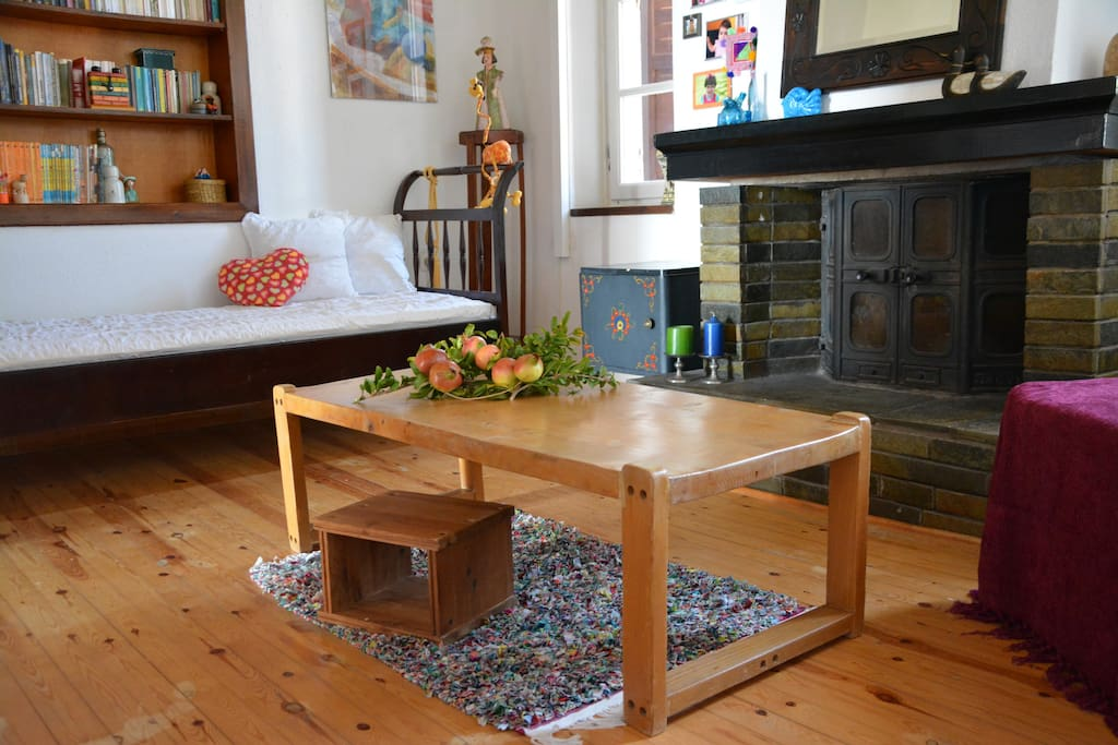 Living room - fireplace / Bedroom 3