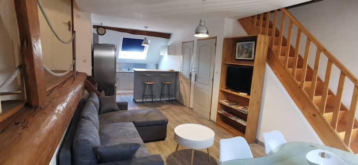 Appartement duplex ouvert, récent et tout confort