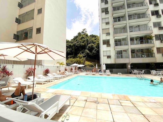 🌟Apart Hotel com Piscina, Gym, Wifi e Vaga grátis