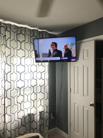 Your personal tv to watch from the bed.