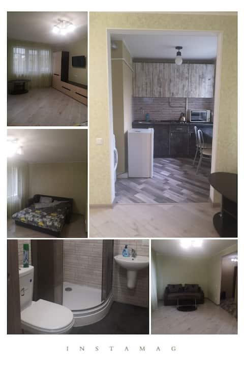 Уютная однокомнатная квартира-студия.