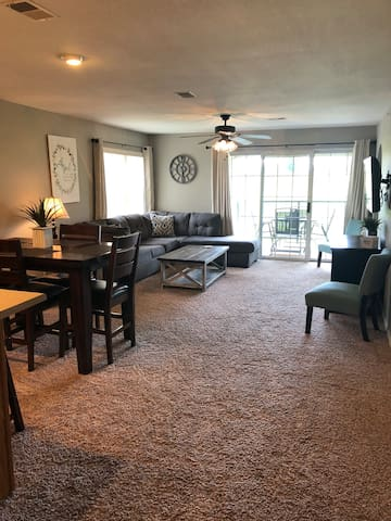 Spacious living and dining