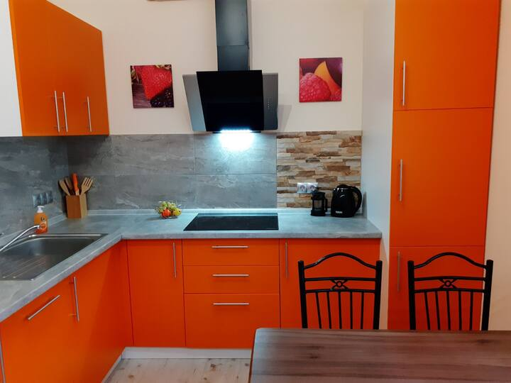 "Apartment ""Orange Dream"" near Teremki metro stat."