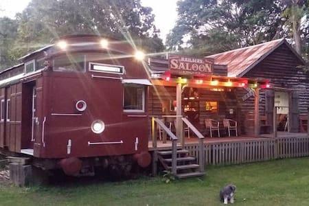 Luxury Train on Farm + Irish Pub ... Sleeps 18 !!