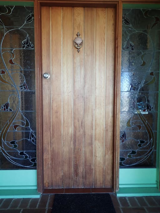 Welcome home! Here's the front door, so you know you're in the right place.