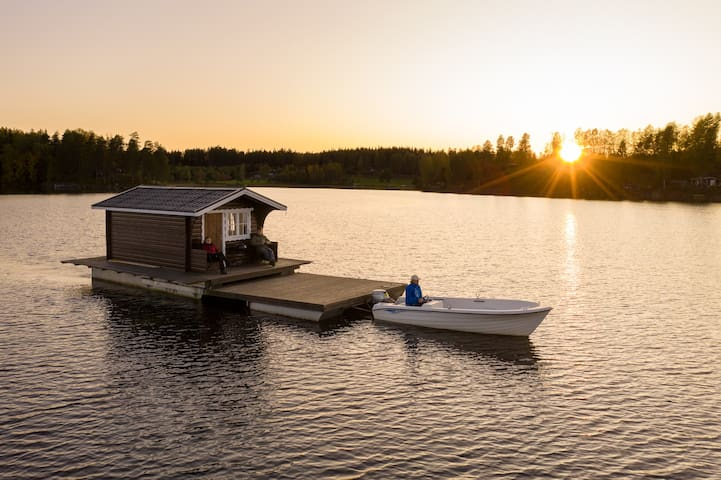 Explore Swedish Nature in our floating cottage  #3