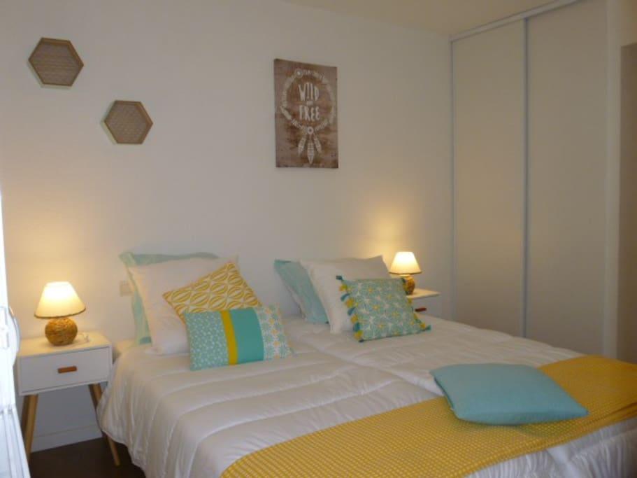 Chambre (lit placé en 2 places)