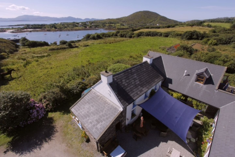 Aerial view of Westcove Farmhouse