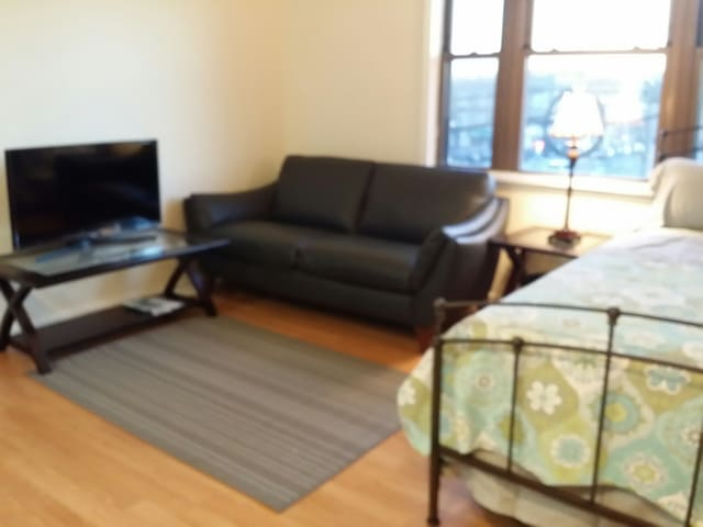 Cozy modern studio#2, Queen bed, renovated - Fairview - Byt