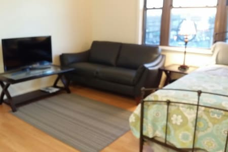 Cozy modern studio#2, Queen bed, renovated - Fairview