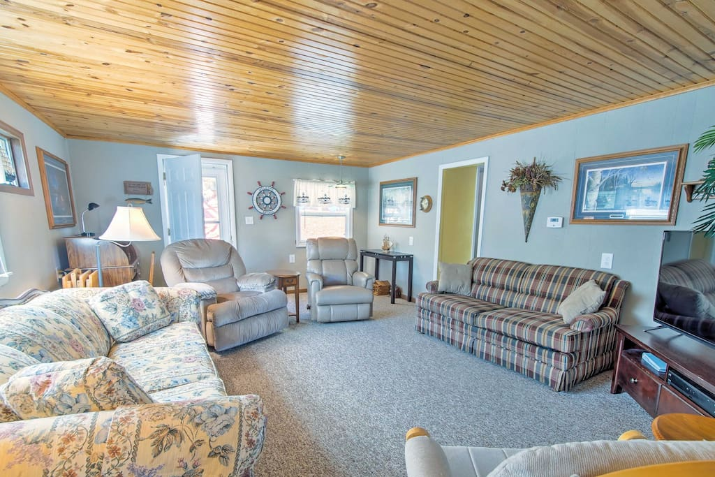 This waterfront home includes a dock and all the amenities of home!
