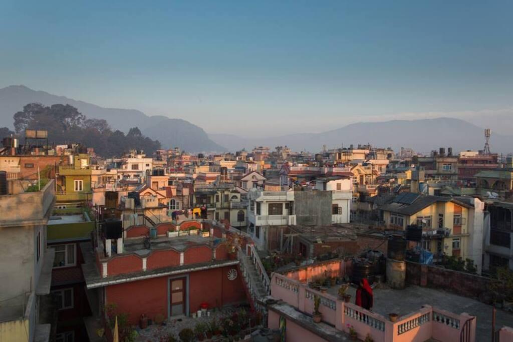 Views of Kathmandu from Roof Top