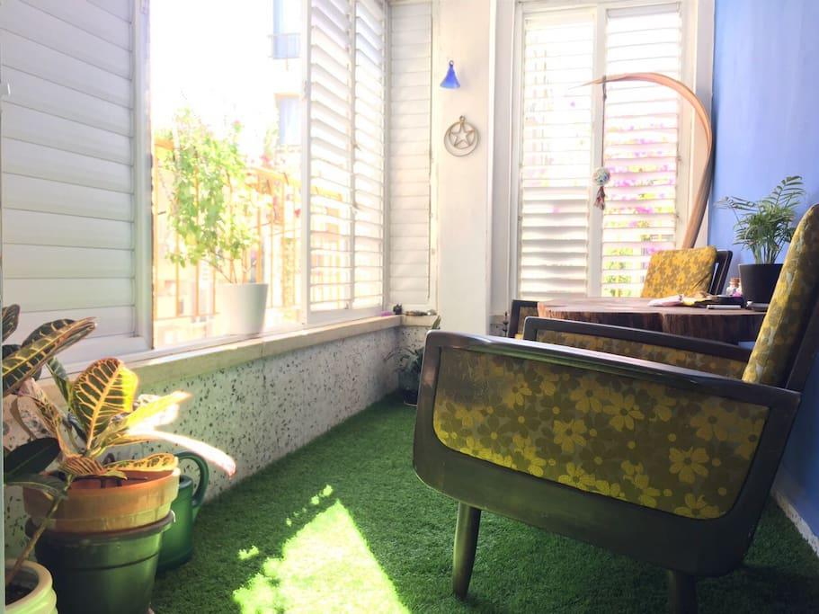 Sunny and enjoyable, fresh  breeze balcony.