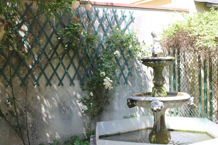 Tavern with garden