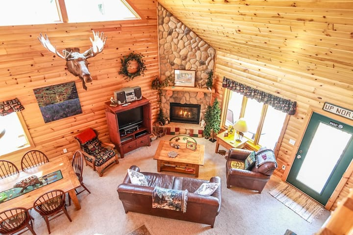 Lutsen Log Lodge 42 is a beautiful log cabin located in the heart of Lutsen on Ski Hill Road next to Superior National Golf Course