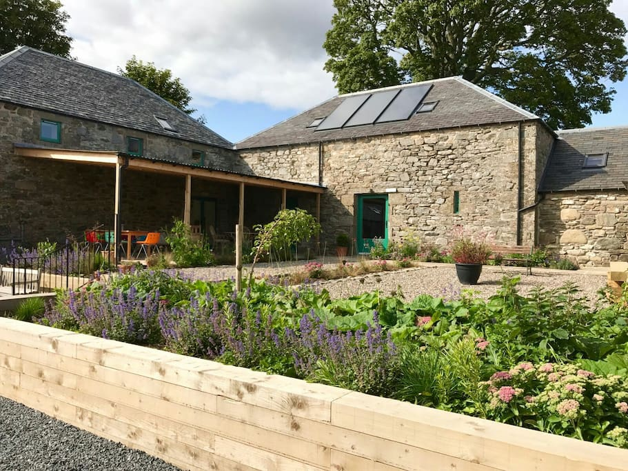 The Steading's courtyard. The perfect place to enjoy a cup of coffee or a glass of wine