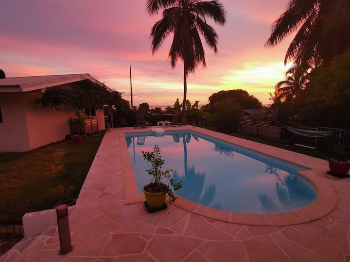 Maison indépendante proche plage Paea